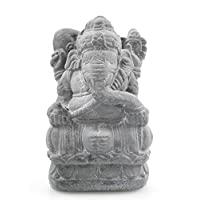 artigianale Statuette Ganesh H20cm in pietra reconsituée