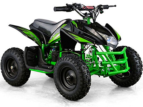 Outdoor Kids Children Titan 24V Black Mini Quad ATV Dirt Motor Bike Electric Battery Powered (Mini New Quad Atv)