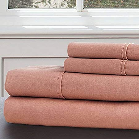 Queen White 66-001-Q-W Lavish Home 100-Percent 300 Thread Count Egyptian Cotton Sheet Set