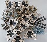 10 Pcs (Five Pairs) Soft Close Blum Blumotion Hydraulic Compact Hinge - 39C SERIES 110 deg 1 1/4 IN OVERLAY SCREW ON VERSION WITH SCREWS by Blum