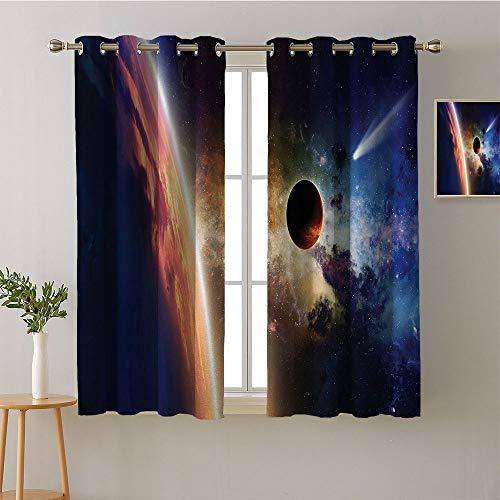 ScottDecor Curtain Panels Grommets Decoration Darkening Curtains Curtains,Extra Darkening Curtains Background Darkening Curtains Room Darkening Curtains(1 Pair, 36