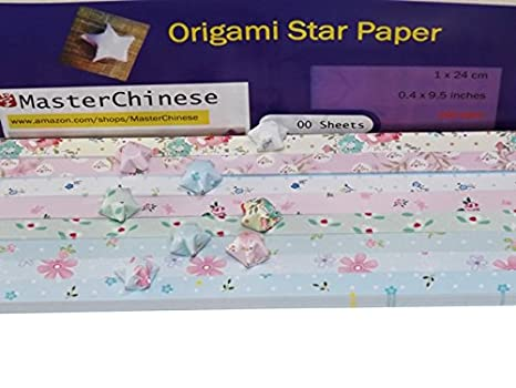 MasterChinese Origami Stars Papers Package (Flower Leaves) - 8 Colors - With Instruction 5221051