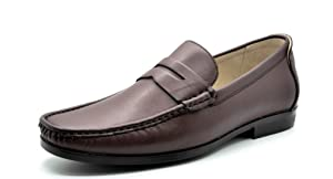 BRUNO MARC MODA ITALY PORTER-01 Men's Dress Classic Slip On Casual Penny Loafers shoes Brown SIZE 7