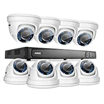 ANNKE 16CH 1080P HD-TVI H.264 Realtime DVR Security Camera System NO HDD included With (8)HD 1080P CCTV Dome Cameras,Weatherproof IP66,Night Vision, Remote Access and More