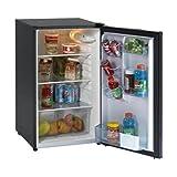Appliances : Avanti AVAAR4446B Refrigerator, Energy Star, Defrost, Glass Shelves, Compact, 4.4 cu. ft.