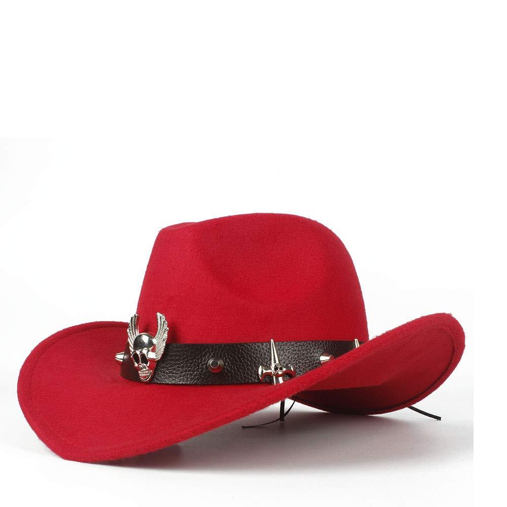 Weejblyl Western Cowboy Hat Jazz Hat with Bismuth Alloy Tape Equestrian Hat for Men Hat Cap