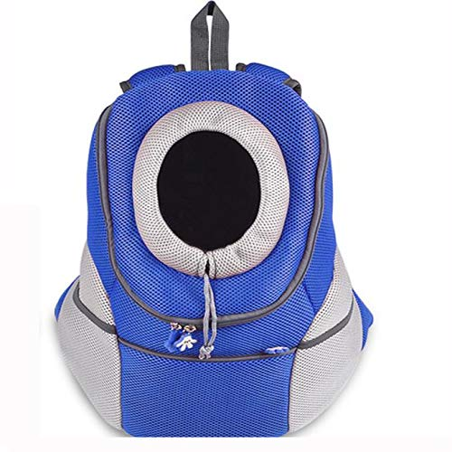 bluee M bluee M Dog Cat Pet Puppy Carrier Backpack Front Tote Carrier Net Bag (M, bluee)