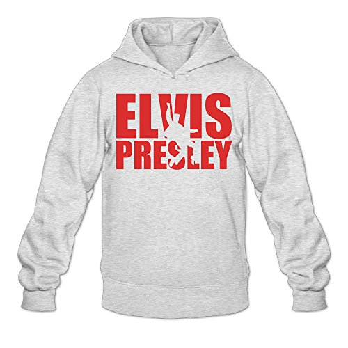 [Fennessy Men's Sweater Elvis Presley Size XXL Ash] (Young Elvis Presley Costumes)