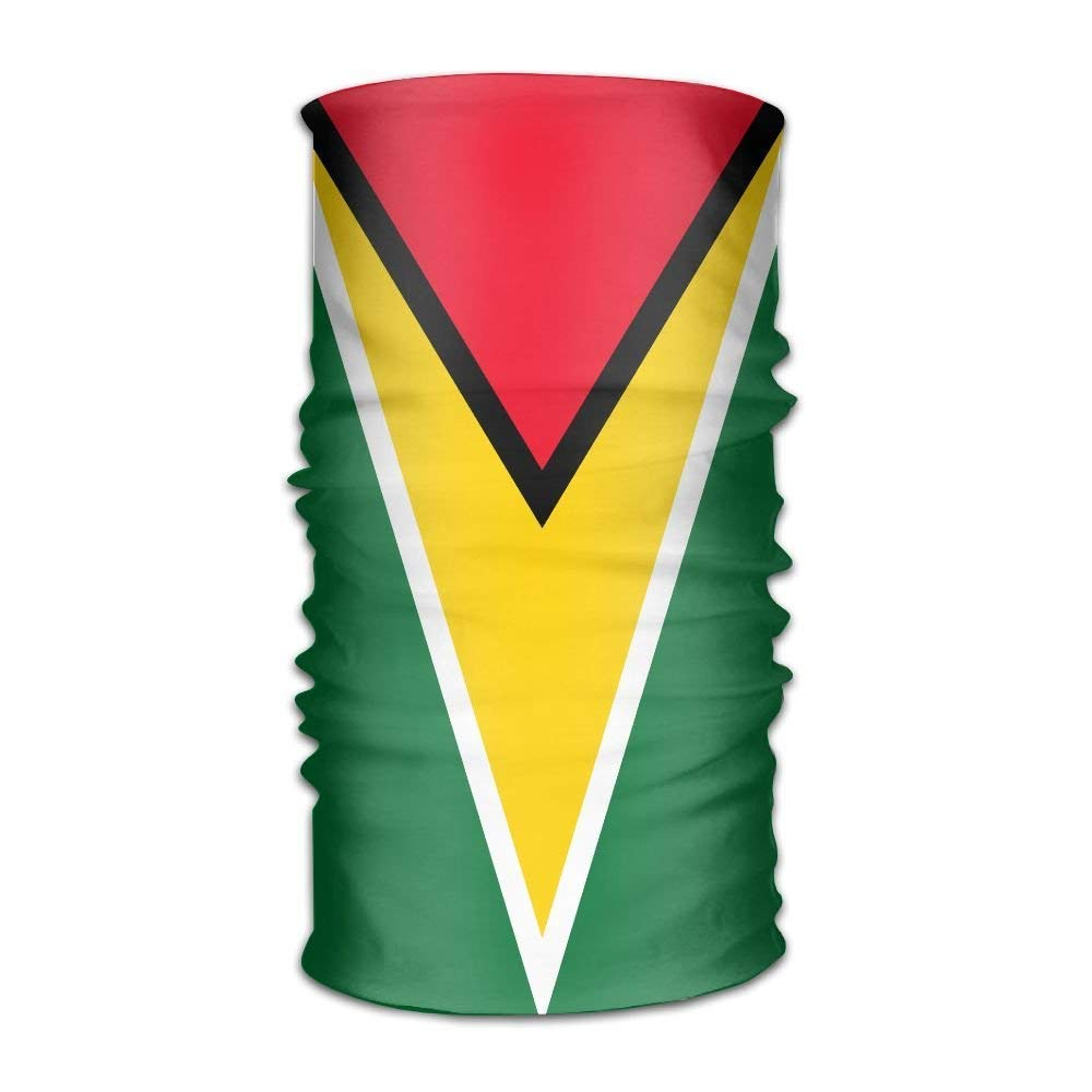 Flag Of Guyana Headwear Bandanas Seamless Headscarf Outdoor Sport Headdress Running Riding Skiing Hiking Headbands