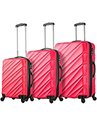 Viaggi Mia Italy Lodi Hardside Spinner 3pc Set, Pink