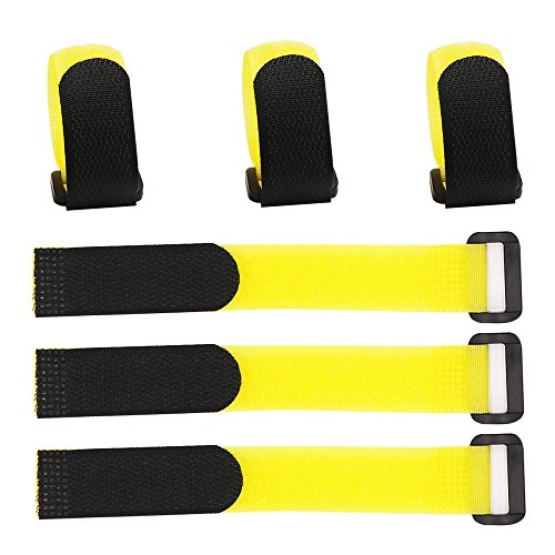 """LGEGE 50 Pcs 8"""" Yellow Reusable Fastening Wrap Strap, Loop Fastening Straps, Hook & Loop Cable Ties for Keeping Cable, Wire and All Kinds of Cords"""