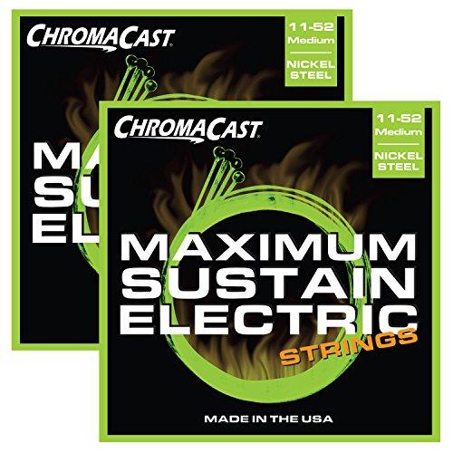 ChromaCast CC-GS-MS-M-2PACK Maximum Sustain Medium Electric Guitar Strings.011-.052, 2-Pack
