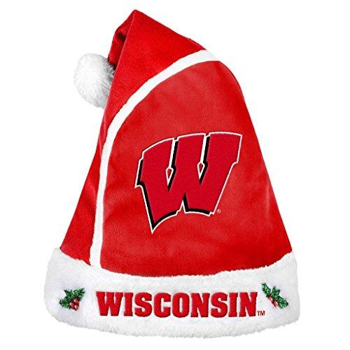 NCAA Wisconsin Badgers 2015 Basic Santa Hat, Red -