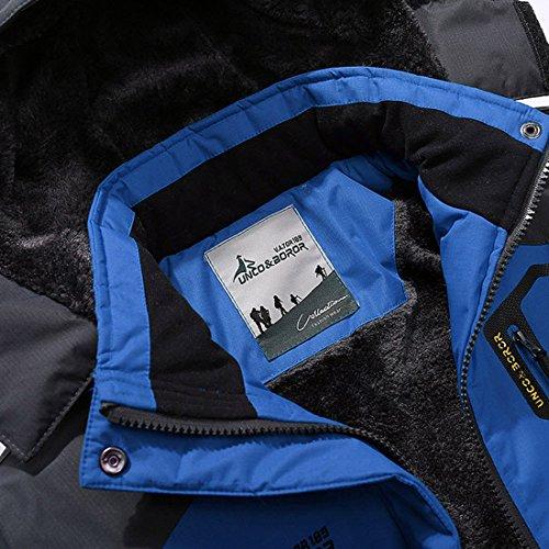 Parka Montagna Impermeabili Blu Termica Sci Inverno Magcomsen Con Giacche Antivento Mens Cappuccio wgqxFw0EPf