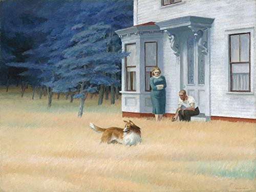 Berkin Arts Edward Hopper Giclee Canvas Print Paintings Poster Reproduction (Cape Cod Evening) (Edward Cape Hopper)