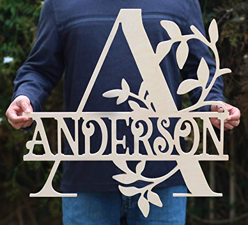Custom Monogrammed Wooden Sign