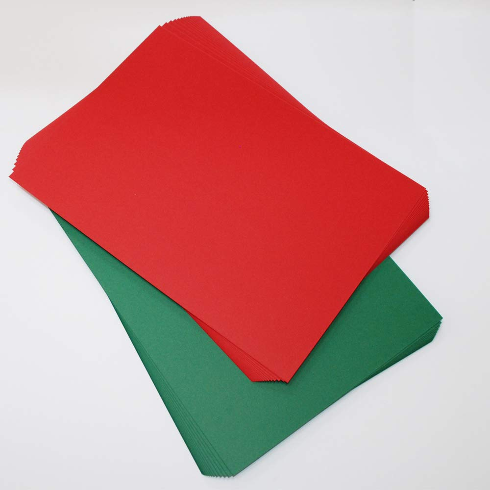 Craft UK 2062 C6 Christmas Card and Envelope - Red/Green (Pack of 40)