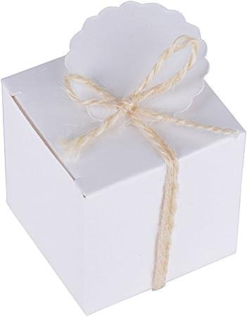 Scatole Bomboniere Matrimonio.5 5 5cm 100pz Scatoline Bianche Scatole Portaconfetti Con