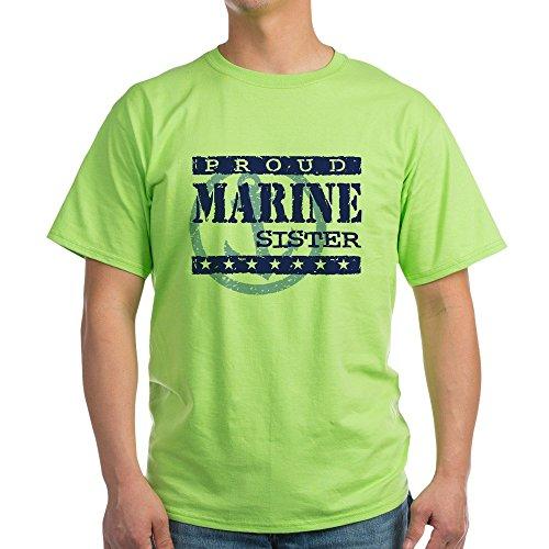 CafePress Proud Marine Sister Ash Grey T-Shirt - 100% Cotton (Sister Ash Grey T-shirt)