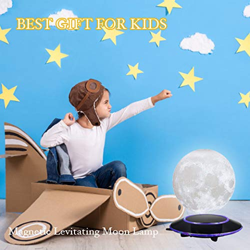 mono living Magnetic Levitating Moon Lamp Night Light 3D Print LED Auto Rotate Birthday Father's Day Gift Gift for Him Her Mother Family Couple Daughter TeenGirl Boyfriend Girlfriend 5.9'' by mono living (Image #5)