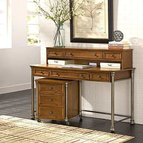 (The Orleans Vintage Caramel Executive Desk and Hutch with Mobile File by Home Styles)
