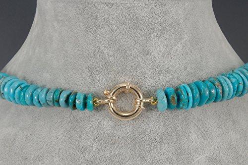 nereididae-Collier Longue de turquoise et ébène