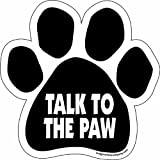 Imagine This Paw Car Magnet, Talk to the Paw,  5-1/2-Inch by 5-1/2-Inch