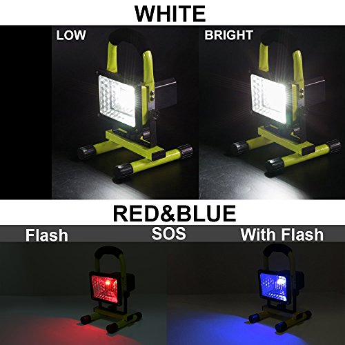 LED Work Light With Magnetic Stand 15W 24 LED Rechargeable