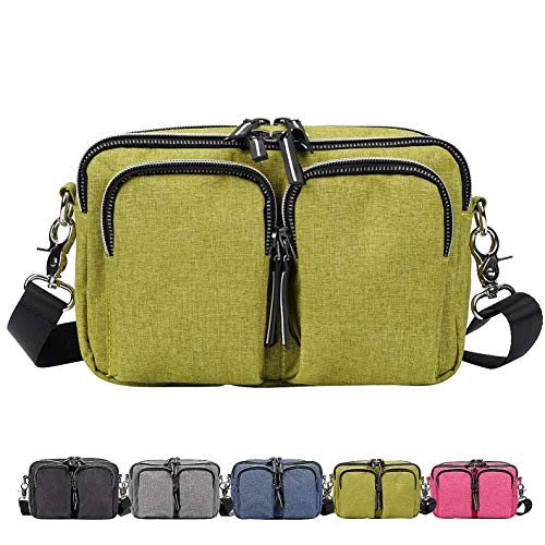 (DivaCat [Updated Version] Fanny Packs for Women Men Extended Waist Strap Duable Multiple Large Size Waist Bag Convertible Shoulder Bag Reflective Zipper Lines Green)