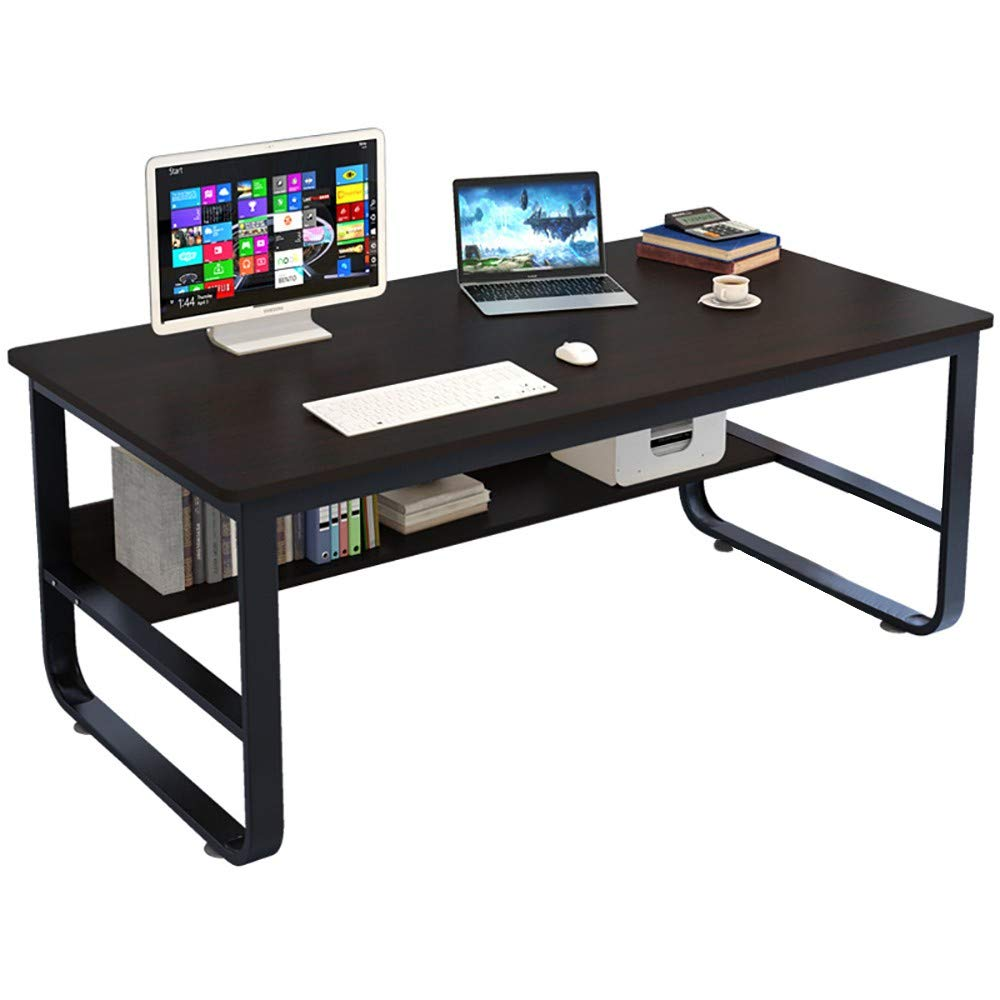 Lavany Computer Desk Table with Storage Rack,Laptop Table Writing Desk,Home Office Computer Writing Study Desk,Sofa Side Table,US Stock