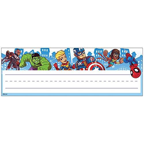 Eureka Marvel Super Hero Adventures Teacher Supplies Self-Adhesive Name Plates, 36 pcs, 9.5'' x 3.25''