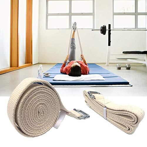 DyNamic KALOAD 183cm Pure Cotton Pilates Yoga Strap Belt Fitness Exercise Gym Waist Leg Resistance Bands