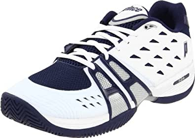 Prince Men's T-24 M Tennis Shoe,White/Navy/Silver,8.5 D US