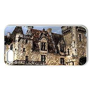 France, Chateau des Milandes Dordogne - Case Cover for iPhone 5 and 5S (Ancient Series, Watercolor style, White)