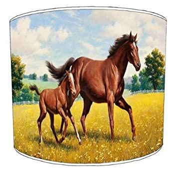 Premier Lampshades - 8 Inch Ceiling Horse And Foal Childrens Lamp Shades by Premier Lampshades
