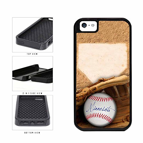 Minnesota Glove and Baseball 2-Piece Dual Layer Phone Case Back Cover Apple iPhone 5 5s - Champions Minnesota Twins