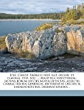 Ioh Christ Fabricii Hist Nat Oecon et Cameral P P O Soc Mantissa Insectorum, , 1149423641