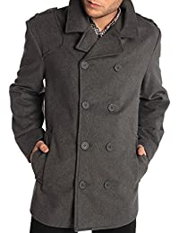 "<span class=""a-offscreen"">[Sponsored]</span>Jake Mens Wool Pea Coat Double Breasted Jacket"