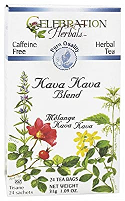 Celebration Herbals Teabags Herbal Kava Kava Blend Pure Quality Organic -- 24 Herbal Tea Bags
