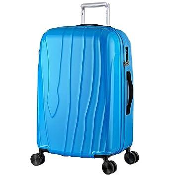 shan Maleta con Ruedas De Gran Capacidad PortáTil para Viaje De Negocios, Maleta con Ruedas (Azul): Amazon.es: Hogar