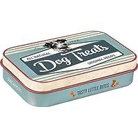 Nostalgic-Art 82201 tabliczka z łapkami - Dog Treats pojemnik na smakołyki/pudełko na podróż To Go wielokolorowe