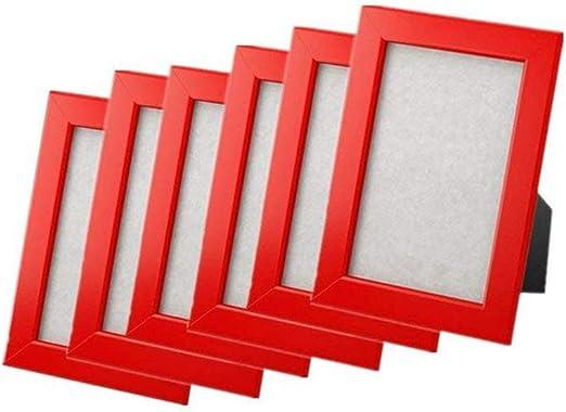 5X7, White Display Horizontally Or Vertically Frame Economic Frame Work Set Of 6 FISKBO Frame Photo Picture Picture Frame Decor