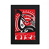 DIYthinker Tambourine Mexican Dance Celebrate Mexico Desktop Photo Frame Picture Black Art Painting 5x7 inch