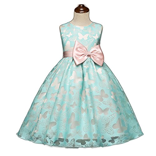 FKKFYY 2-10 Years Little Big Girls Princess Dresses For Wedding Party Holiday