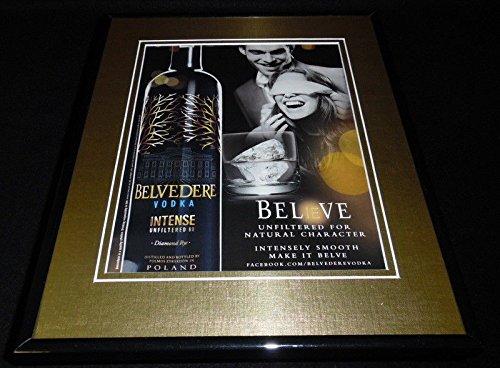 2011 Belvedere Intense Vodka Framed 11x14 ORIGINAL Vintage Advertisement ()