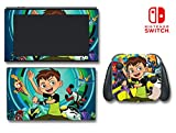 Ben 10 Reboot Ten 2016 Cartoon Tennyson Video Game Vinyl Decal Skin Sticker Cover for Nintendo Switch Console System