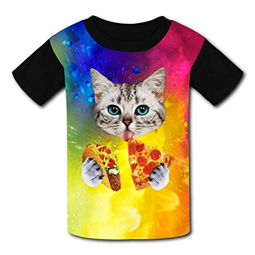 Kids/Youth Creative Taco Funny Cat T-Shirts Short Sleeve Children Tees