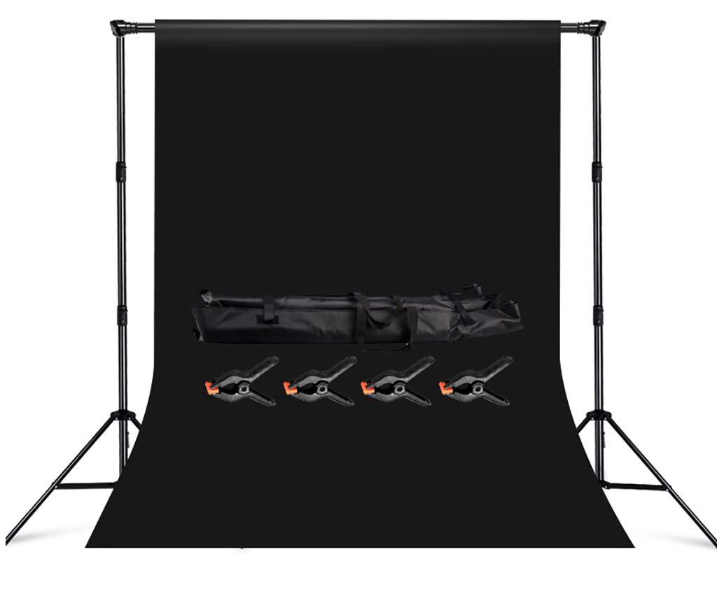 背景スタンドW3XH2.88M サポートシステム ブラック背景 ポートレート 製品写真 ビデオ撮影用 3x6m Background cloth 940423 3x6m Background cloth  B07MNY183H
