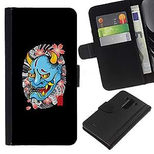 ZCell / LG G3 / Devil Spring Tattoo Biker Rock Roll / Caso Shell Armor Funda Case Cover Wallet / Diablo Primavera Tattoo motorista Rock Roll