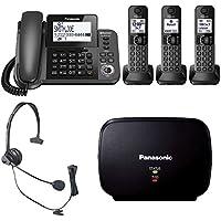 Panasonic KX-TGF383M DECT 3-Handset Landline Telephone + 1 Panasonic KXTGFA30B